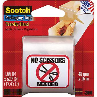 Scotch Tear By Hand Packaging Tape 1.88