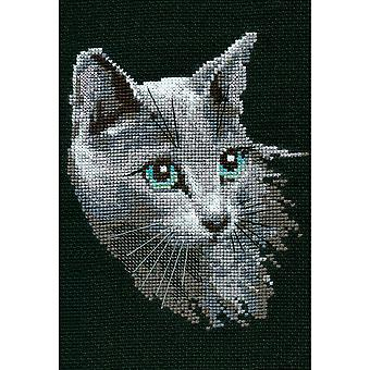 Russian Blue Counted Cross Stitch Kit 8.25