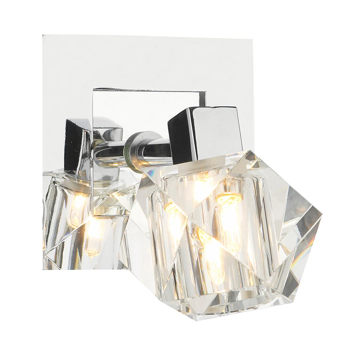 Dar GEO0750 Geo Contemporary Switched Halogen Wall Light