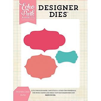 Echo Park Dies-Decorative Labels EPDIE609