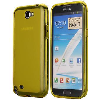 Soft TPU rubber cover for Samsung Galaxy Note 2 (yellow green)