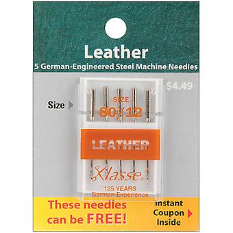 Klasse Leather Machine Needles -Size 12/80 5/Pkg A5104-8012