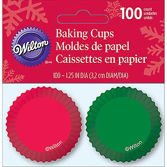 Mini Baking Cups-Green 100/Pkg W7231