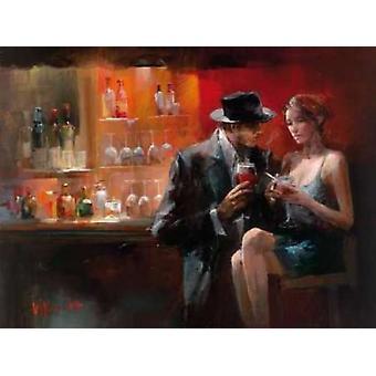 Abend in der Bar ich Poster Print von Willem Haenraets