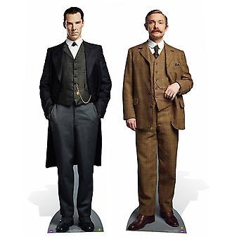 Sherlock Holmes und Dr. John Watson Twin Pack Lifesize Karton Ausschnitt / AC / Standup festlegen