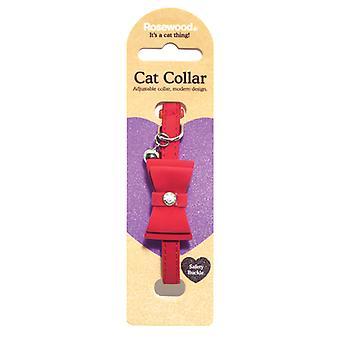 Catwalk Designer katt krage fluga röd (förpackning med 3)