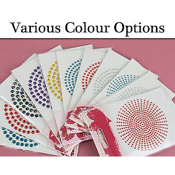 Self Adhesive Jewels for Crafts - Choice of Colour and Size