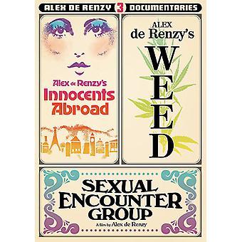 Tre dokumentarfilm af Alex De Renzy [DVD] USA importerer