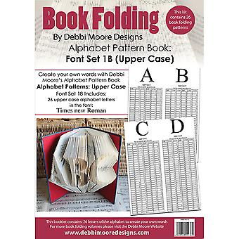 Debbi Moore Book Folding Pattern Book-Times New Roman Font 1B, 26 Uppercase DMBFP013