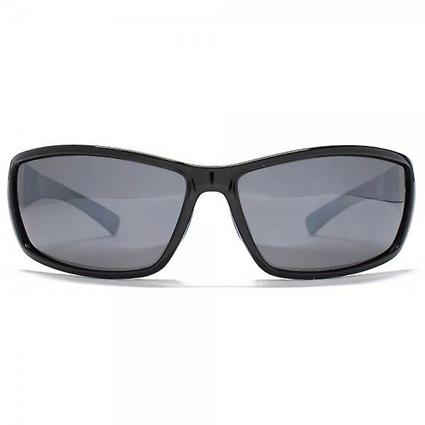 Freedom Polarised Rubber Trim Sports Wrap Sunglasses Black