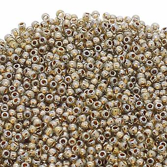 Toho Toho Seed Beads 11/0 - Gold Lined Black Diamond - 10g