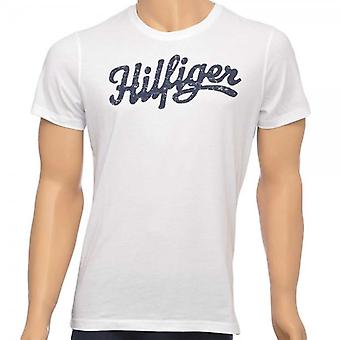Tommy Hilfiger Norton Organic Cotton Short Sleeved Crew Neck T-Shirt, White, Small
