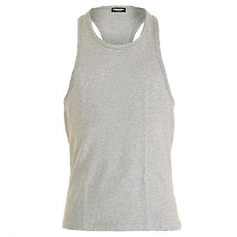 DSQUARED2 Cotton Stretch Tank Top, Grey, X-Large