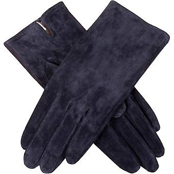 Dents Emily Plain Suede Gloves - Navy