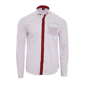 Tazzio fashion shirt men's long sleeve white shirt