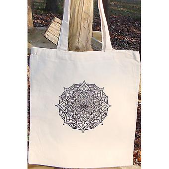 Stamped Canvas Tote To Color-Mandala 98103T
