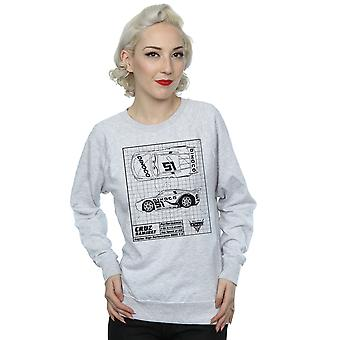 Disney kvinners biler Cruz Ramirez Blueprint Sweatshirt