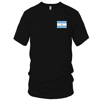 Argentina Argentinian Country National Flag - Embroidered Logo - 100% Cotton T-Shirt Kids T Shirt