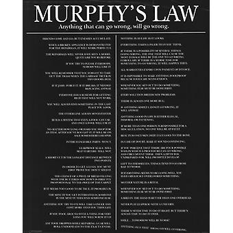 Murphys Law Poster Poster Print