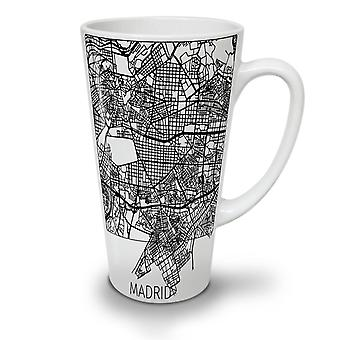 Spain City Madrid NEW White Tea Coffee Ceramic Latte Mug 17 oz | Wellcoda