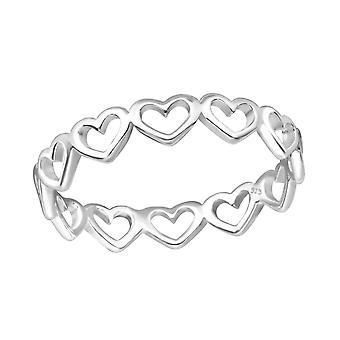 Heart - 925 Sterling Silver Plain Rings