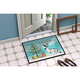 English Spot Rabbit Christmas Indoor or Outdoor Mat 24x36