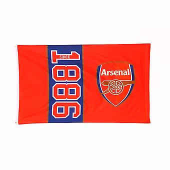 Arsenal FC Official Football Crest Design Since 1886 Flag