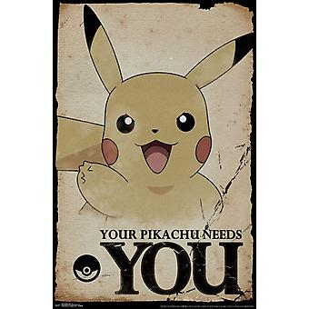 Pokemon - Needs You Poster Print