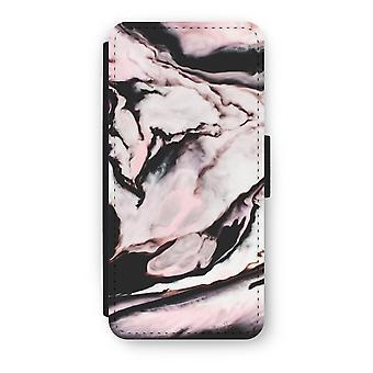 iPhone 5/5S/SE caso Flip - fluxo-de-rosa
