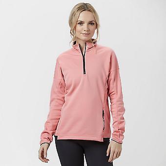 New adidas Women's Terrex Tivid Half-Zip Fleece Sports Top Pink