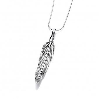Cavendish French Silver Navajo Feather Pendant with 16-18