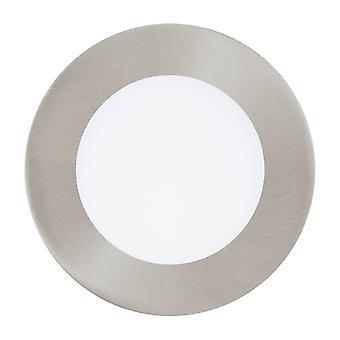 Eglo Fueva Matt Nickel Ceiling LED Panel, 120mm