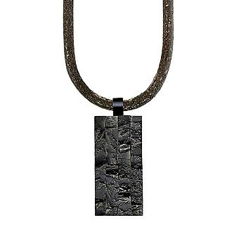 s.Oliver Jewel Necklace Men Stainless Steel Leather SO1019 / 1-463669