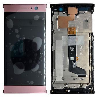 Sony Display LCD Komplett Einheit mit Rahmen für Xperia XA2 Pink Ersatzteil