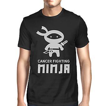 Ninja Cancer Fighting Tee Black For Men Breast Cancer Awareness