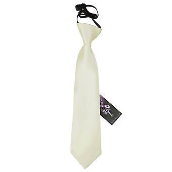 Plaine d'Ivoire Satin élastique cravate pour les garçons