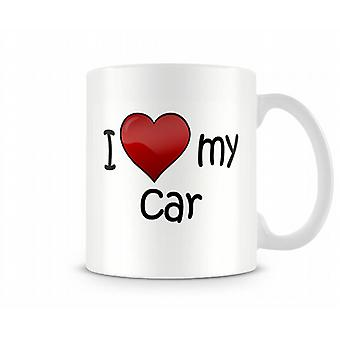 I Love My Car Printed Mug