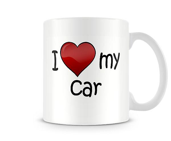 I Love My Car Printed Mug