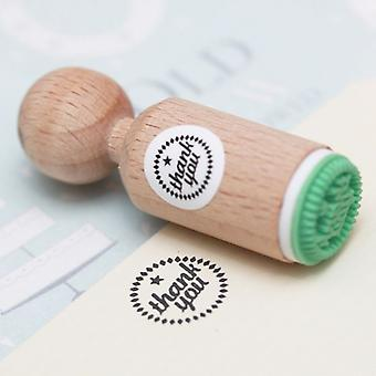 THANK YOU Rubber Stamp Round - VERY MINI - Craft / Scrapbooking / Stamping