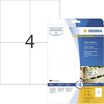 Herma 10909 Labels 105 x 148 mm Paper White 100 pc(s) Permanent Adhesive labels (extra strong), All-purpose labels Inkje