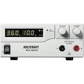 Banc de VOLTCRAFT PPS-16005 PSU (tension réglable) 1-36 Vdc 0 - 10 A 360 USB W, télécommande programmable no des sorties 2 x