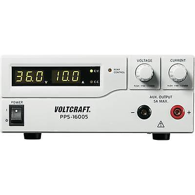VOLTCRAFT PPS-16005 Bench PSU (adjustable voltage) 1 - 36 Vdc 0 - 10 A 360 W USB , Remote programmable No. of outputs 2 x