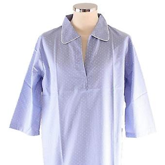 Bown of London Soho Spot Nightshirt - Light Blue