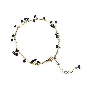 Safirarmband Sapphire Sapphire armbånd gullet tallerken