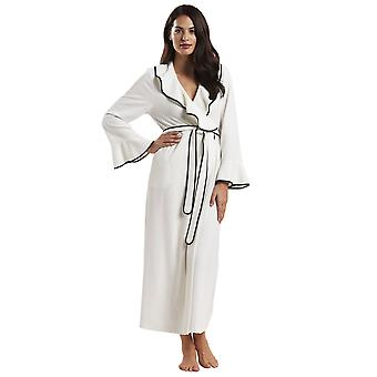 Feraud 3181330-11697 Women's High Class Ivory Solid Colour Dressing Gown Loungewear Bath Robe Robe
