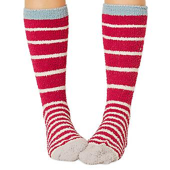 Bangora women's fluffy socks in rose. Made from recycled polyester by Braintree