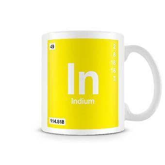 Scientific Printed Mug Featuring Element Symbol 049 In - Indium