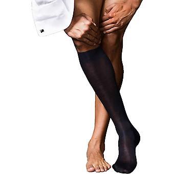 Falke No4 reine Seide Knie hohen Socken - dunkelblau