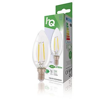 HQ HQLFE14CAND001 Led Retro Filament Lamp E14 Kaars 2 W 210 Lm 2700 K