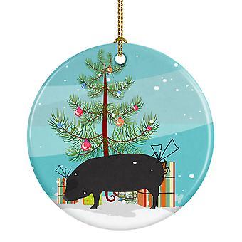 Carolines Treasures  BB9298CO1 Devon Large Black Pig Christmas Ceramic Ornament